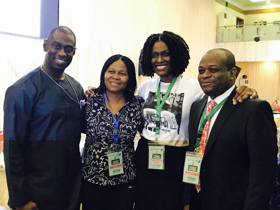 With Bishop Feb Idahosa, Dr. Odumakin and Mr. Oluremi
