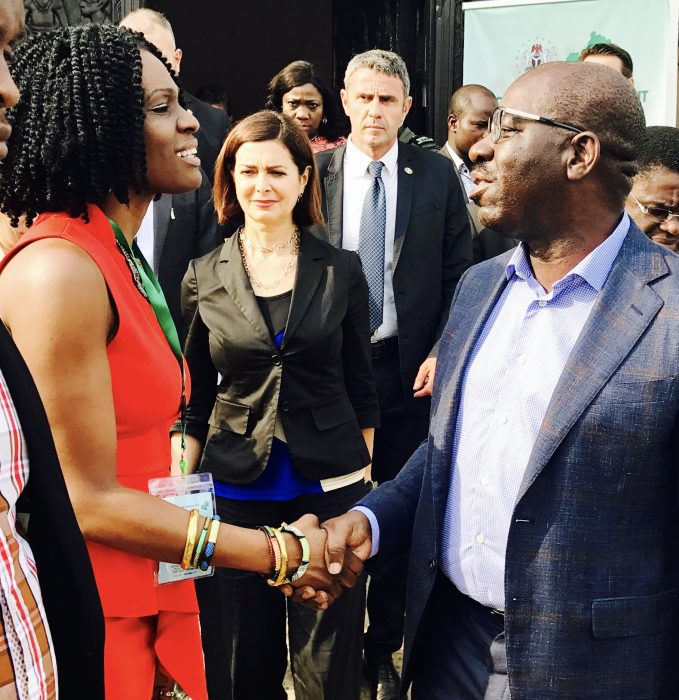 With His Excellency, Governor Godwin Obaseki