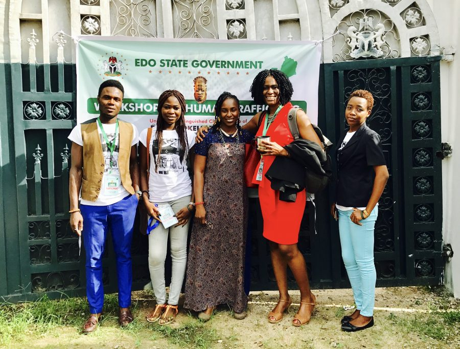 Our team with Kay Benson-Akhigbe