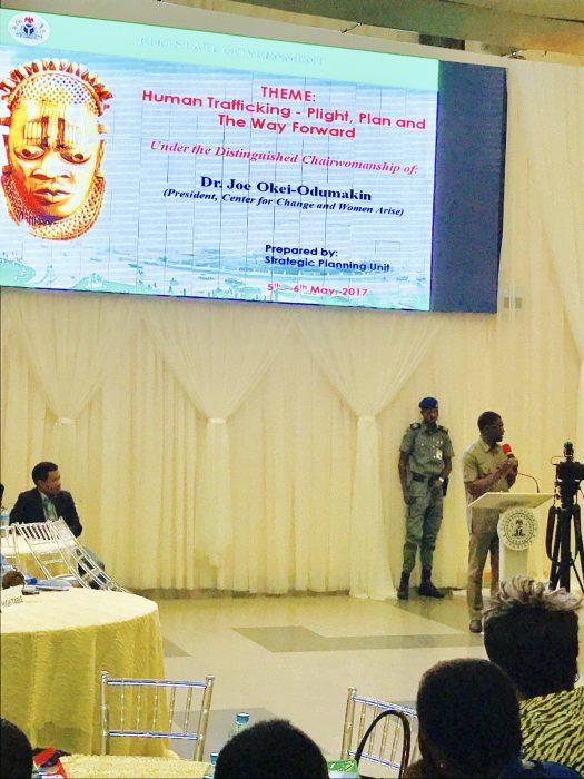 Deputy Governor Shaibu speaking