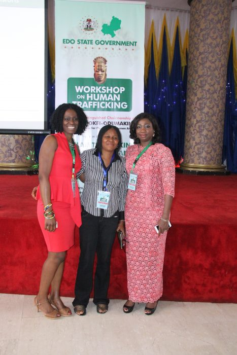 With Dr. Joe Odumakin and SA Hon. Abike Dabiri-Erewa