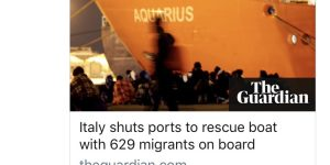 Italy Closes Ports to MSF's Aquarius Carrying 600+ Sub-Saharan African Migrants