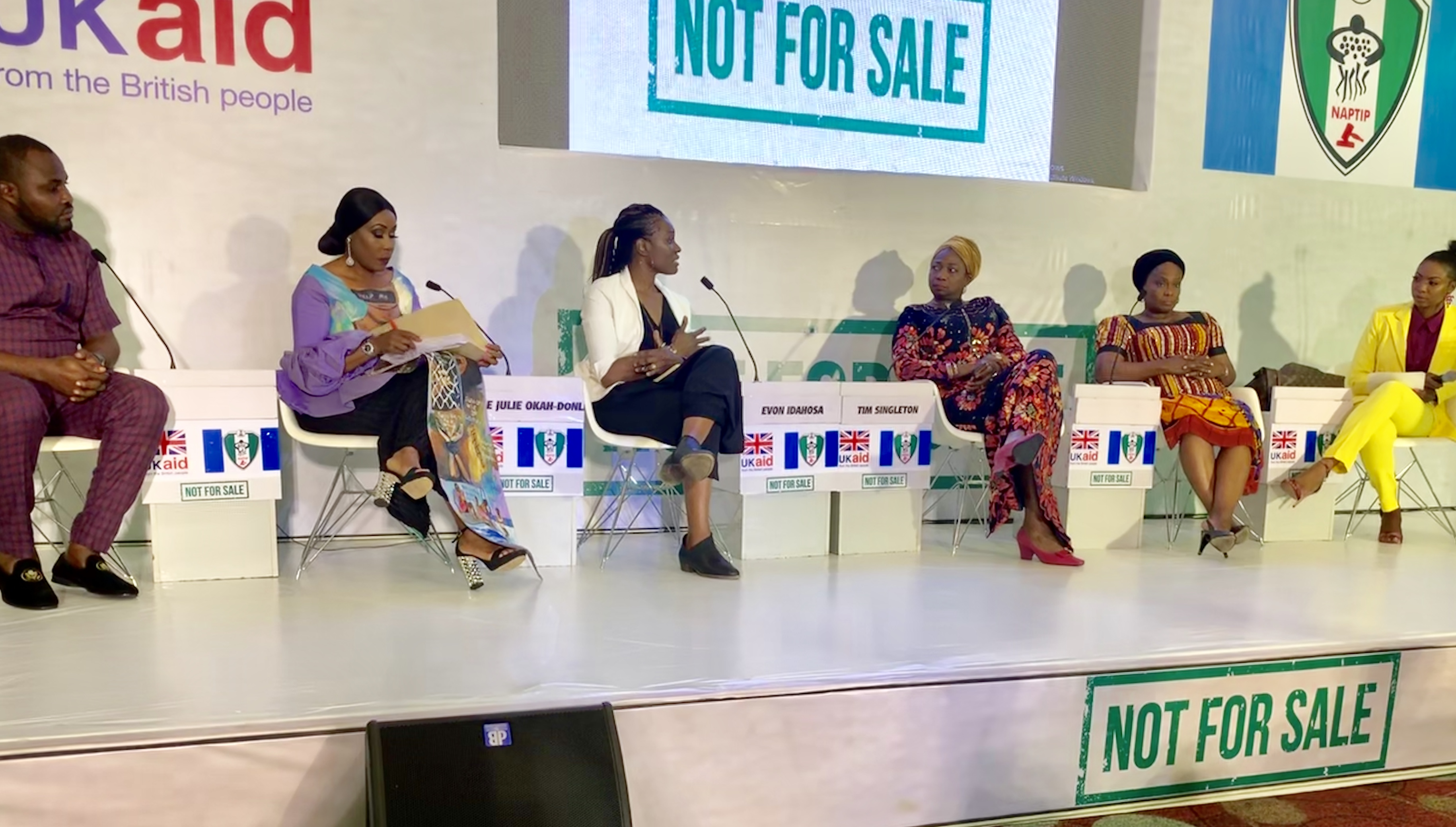 Pathfinders' Founder is Panelist at Launch of NAPTIP's 'Not For Sale' Campaign!