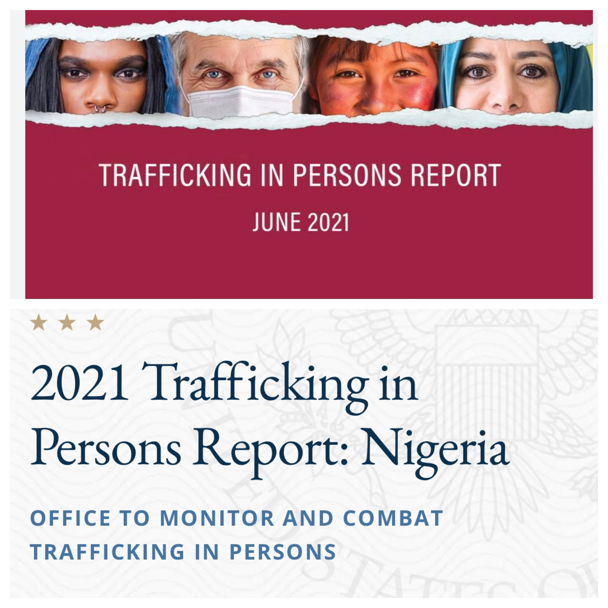 Nigeria Upgraded to Tier 2 on US State Department 2021 TIP Report